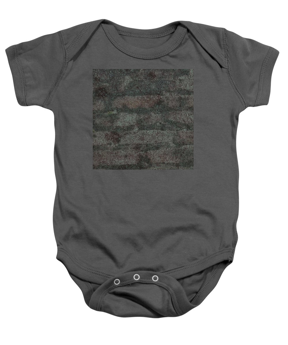 Bricks Baby Onesie featuring the photograph Brick Pillow II by Randolph Ping