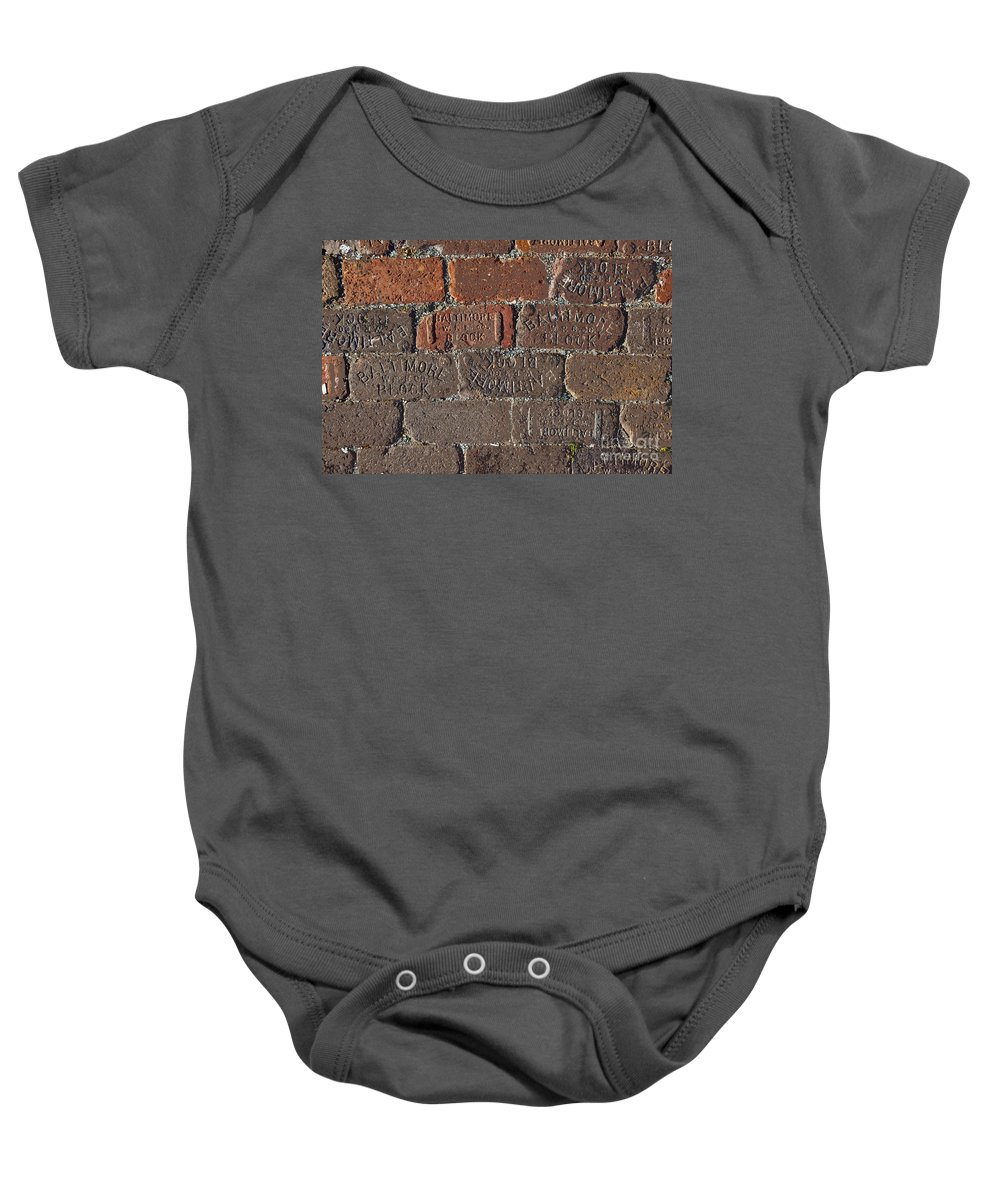 Street Baby Onesie featuring the painting Brick Street by David Lee Thompson