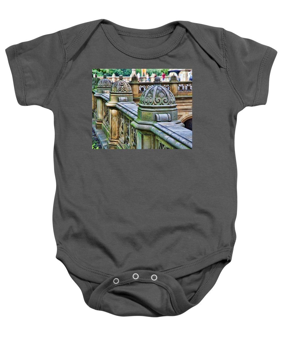 Bridge Baby Onesie featuring the photograph Bridge Detail 3 by Kelley King
