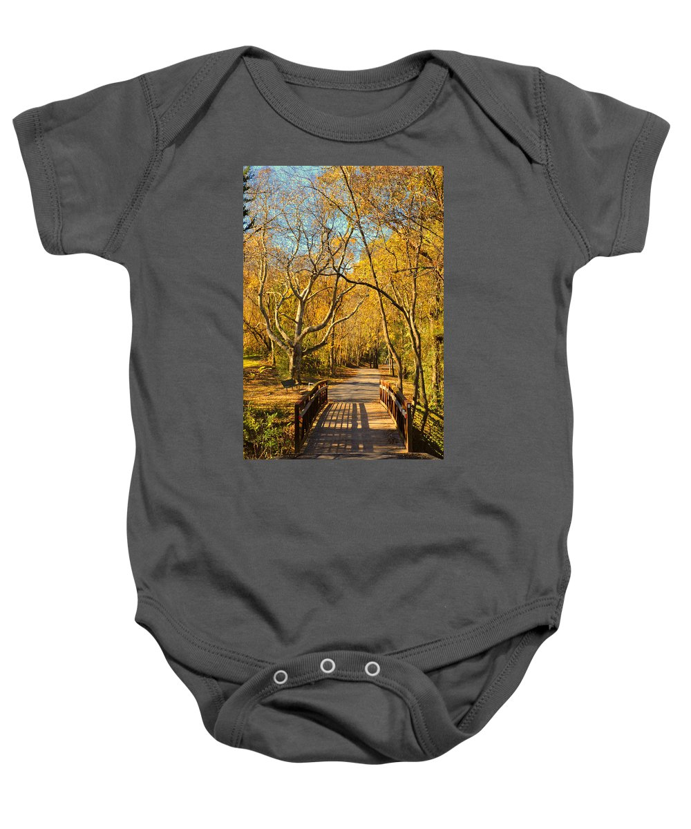 Trail Baby Onesie featuring the photograph Bridge Of Sighs by Stephen Anderson