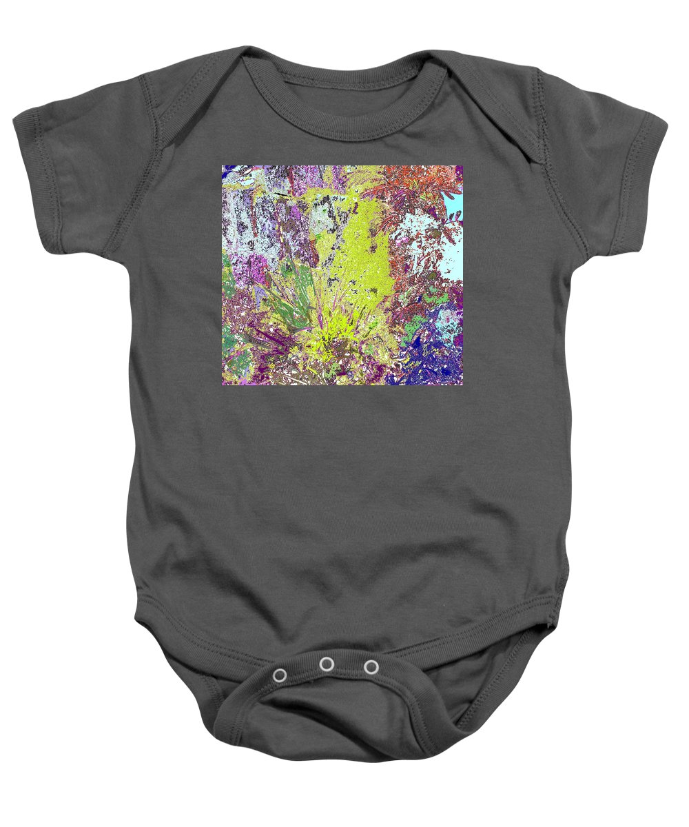 Abstract Baby Onesie featuring the photograph Brimstone Fantasy by Ian MacDonald