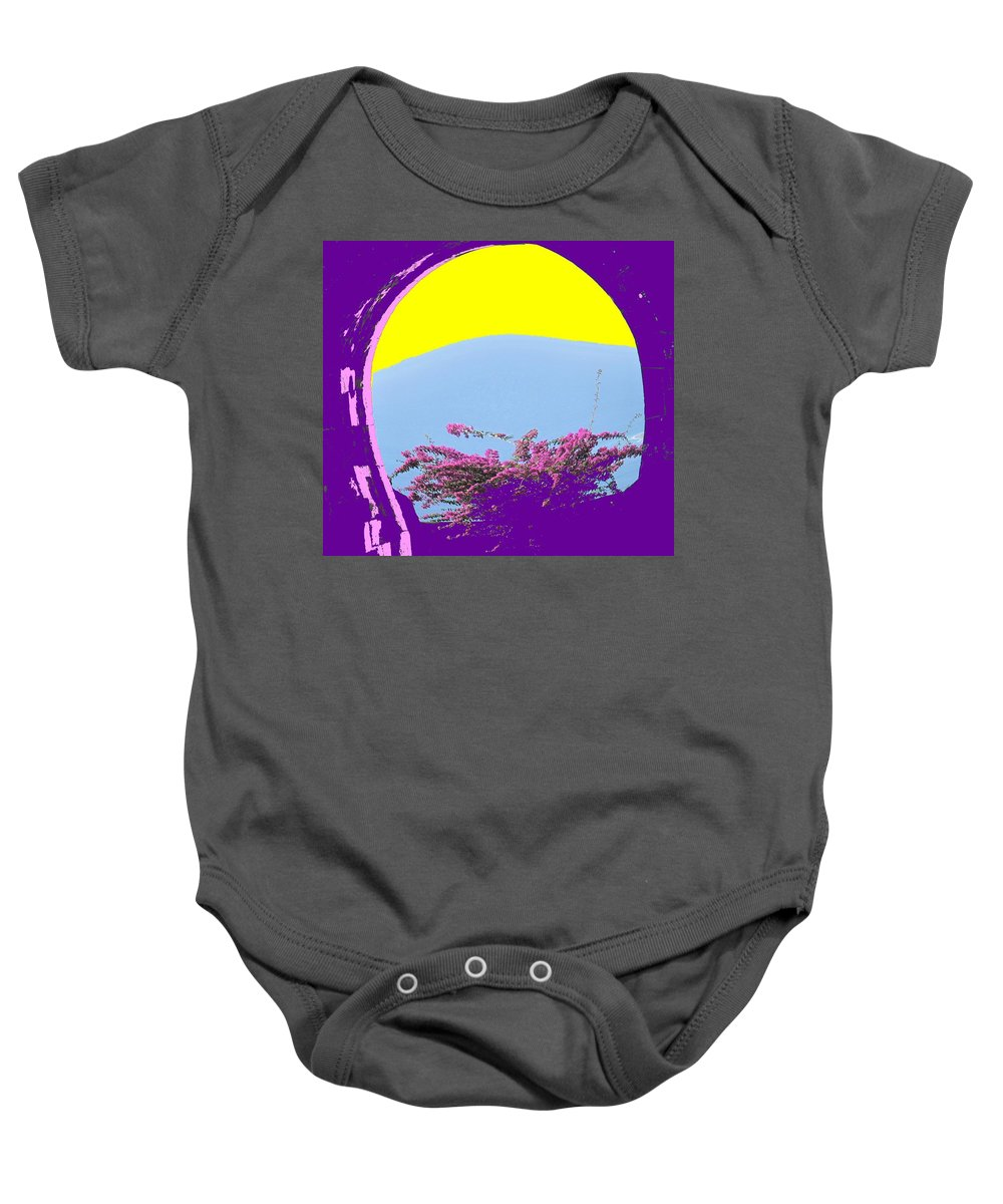 Brimstone Baby Onesie featuring the photograph Brimstone Gate by Ian MacDonald