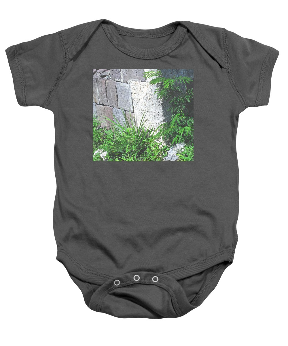 Brimstone Baby Onesie featuring the photograph Brimstone Wall by Ian MacDonald