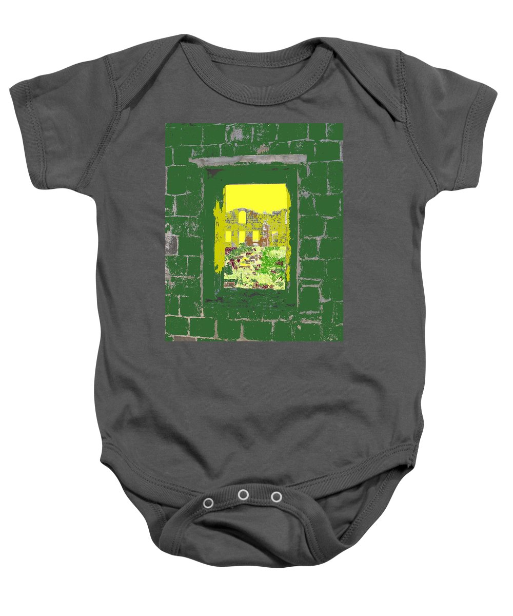 Brimstone Baby Onesie featuring the photograph Brimstone Window by Ian MacDonald