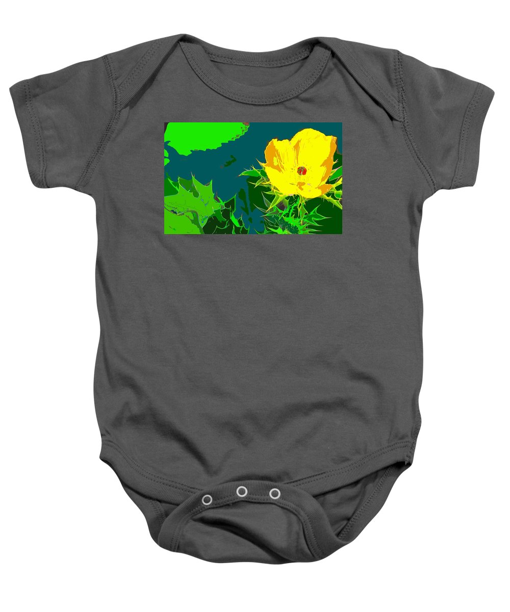 Baby Onesie featuring the photograph Brimstone Yellow by Ian MacDonald