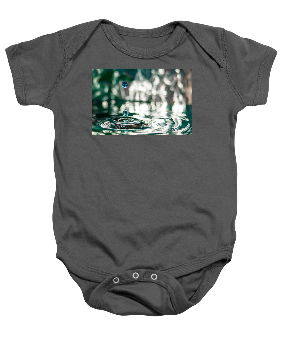 Droplets Baby Onesie featuring the photograph Brith Of Worlds by Robert Huber