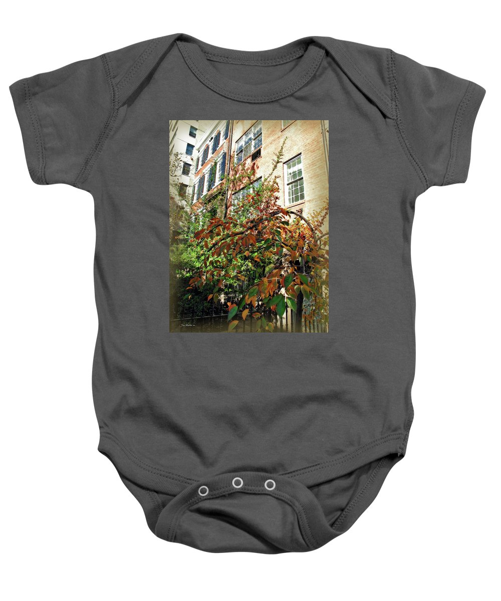 Leaves Baby Onesie featuring the photograph Brooklyn In November by Joan Minchak