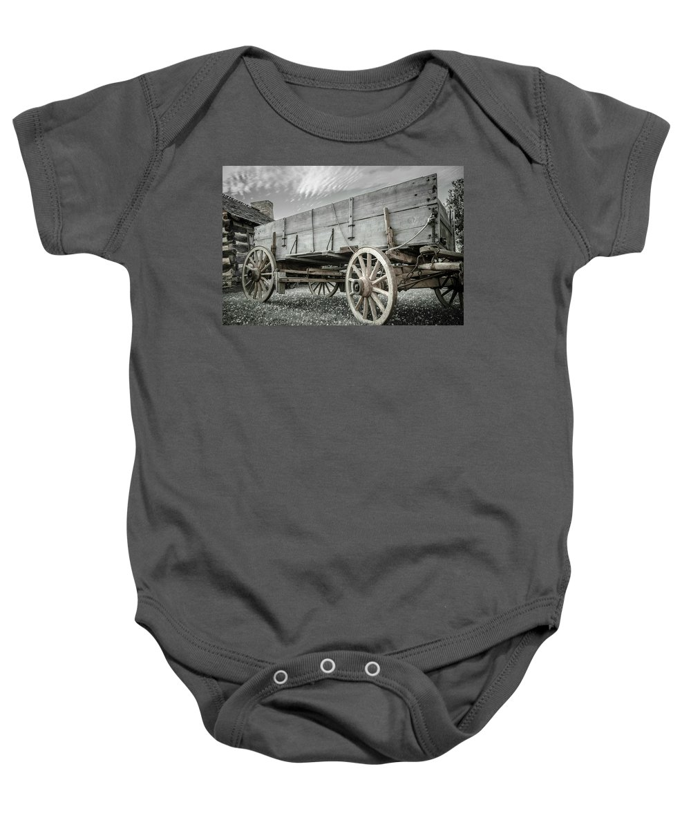 Farm Life Baby Onesie featuring the photograph Buckboard by Jim Love