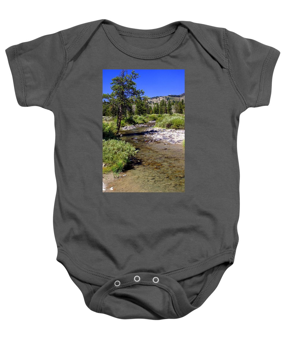 Montana Baby Onesie featuring the photograph Buffalo Fork by Marty Koch