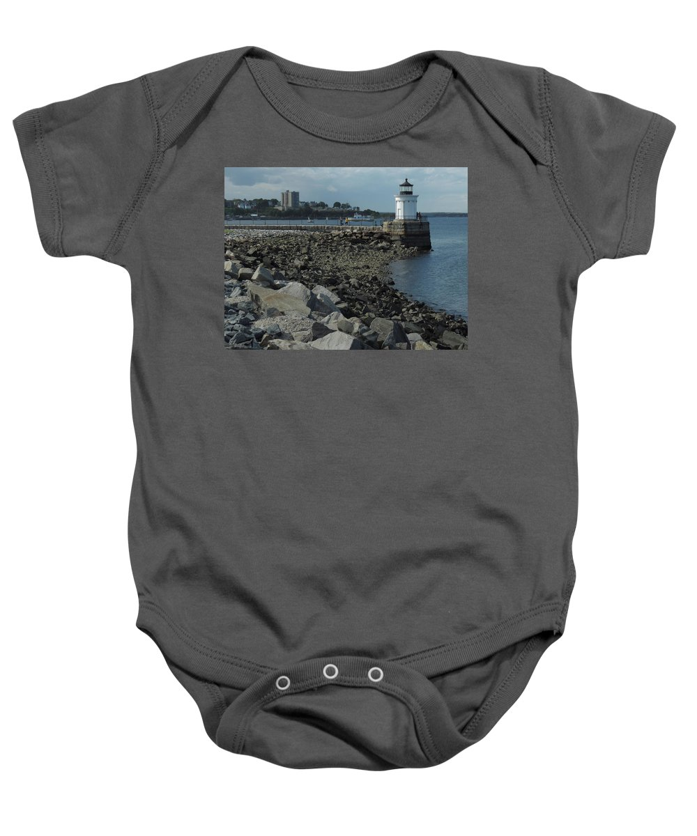 Color Baby Onesie featuring the photograph Bug Light by Bill Tomsa