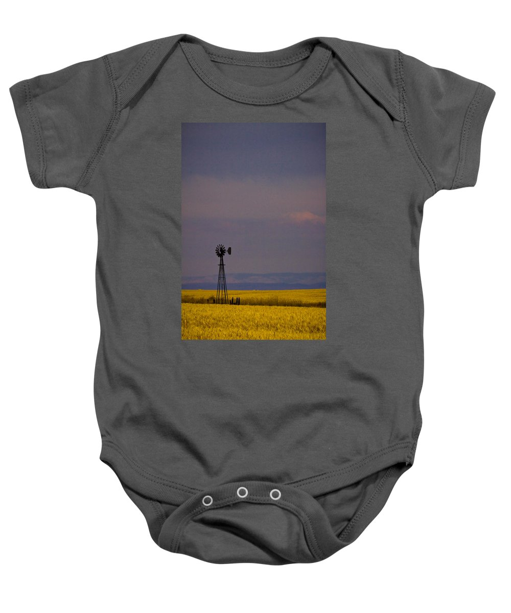 Windmill Baby Onesie featuring the photograph Bumper Crop by Albert Seger