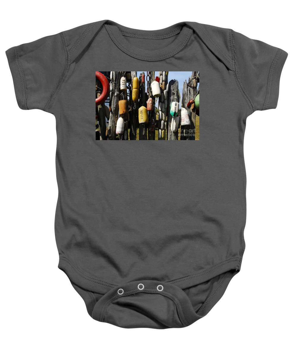 Buoys Baby Onesie featuring the photograph Buoys by David Lee Thompson