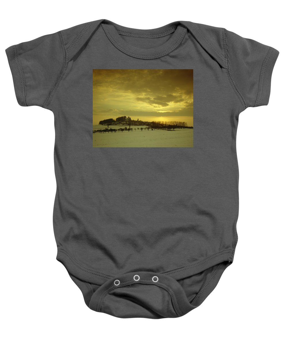 Castle Baby Onesie featuring the photograph Burg Stolpen by Stolpen