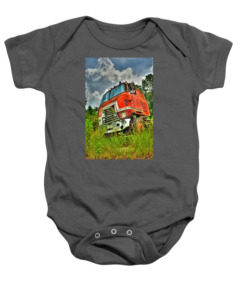 Truck Baby Onesie featuring the photograph Busted And Rusted by Rich Leighton