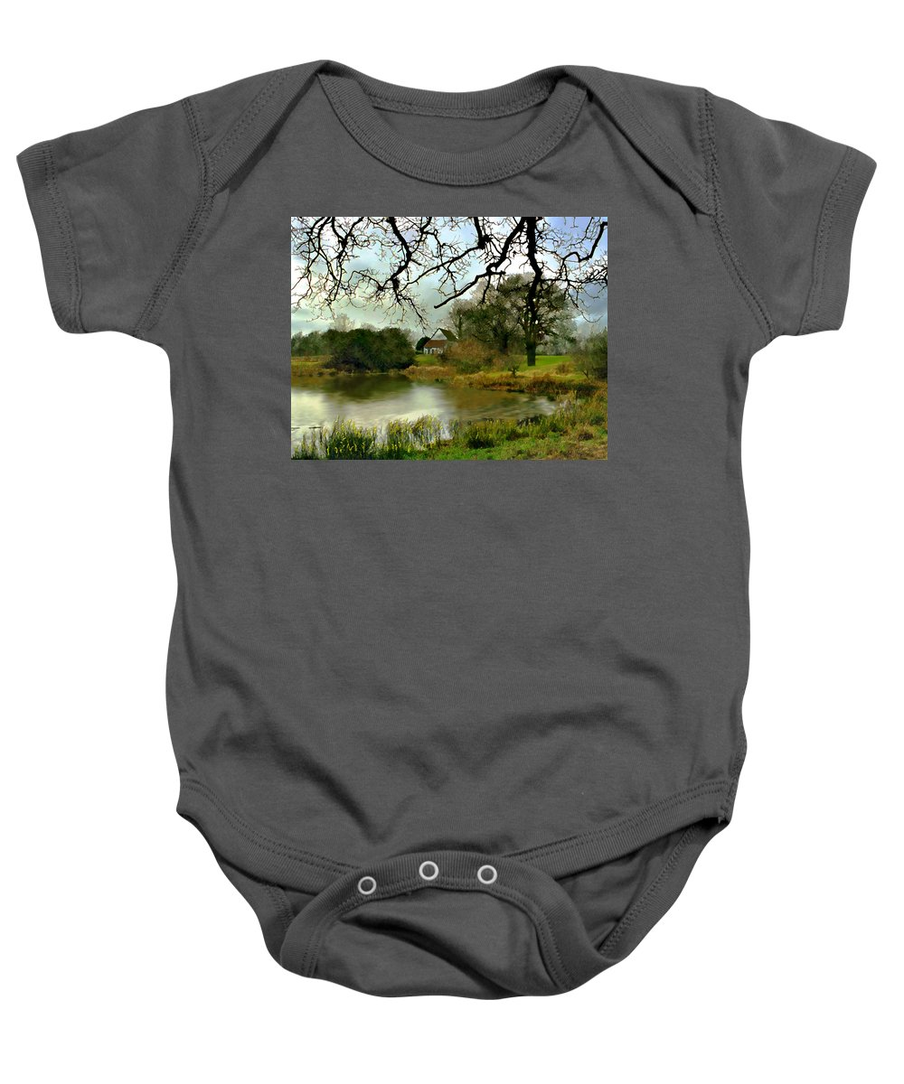 England Baby Onesie featuring the photograph Butlers Retreat Epping Forest Uk by Kurt Van Wagner