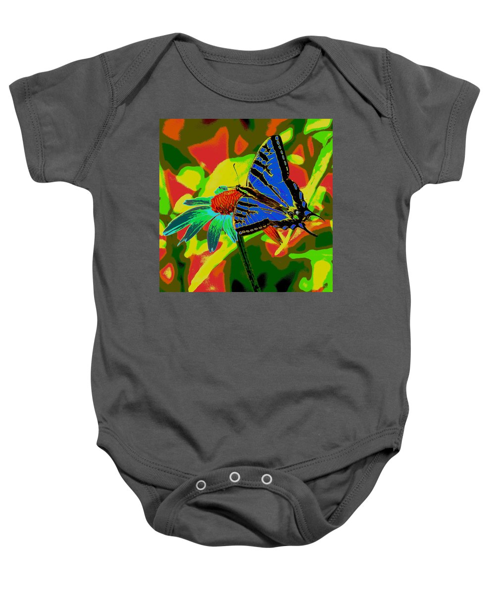 Photo Art Baby Onesie featuring the photograph Butterfly Blues by Ben Upham III