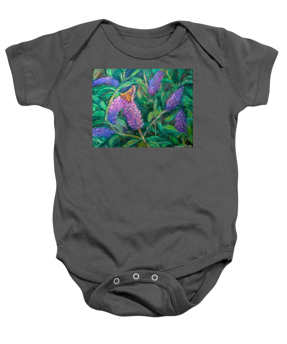 Butterfly Baby Onesie featuring the painting Butterfly View by Kendall Kessler