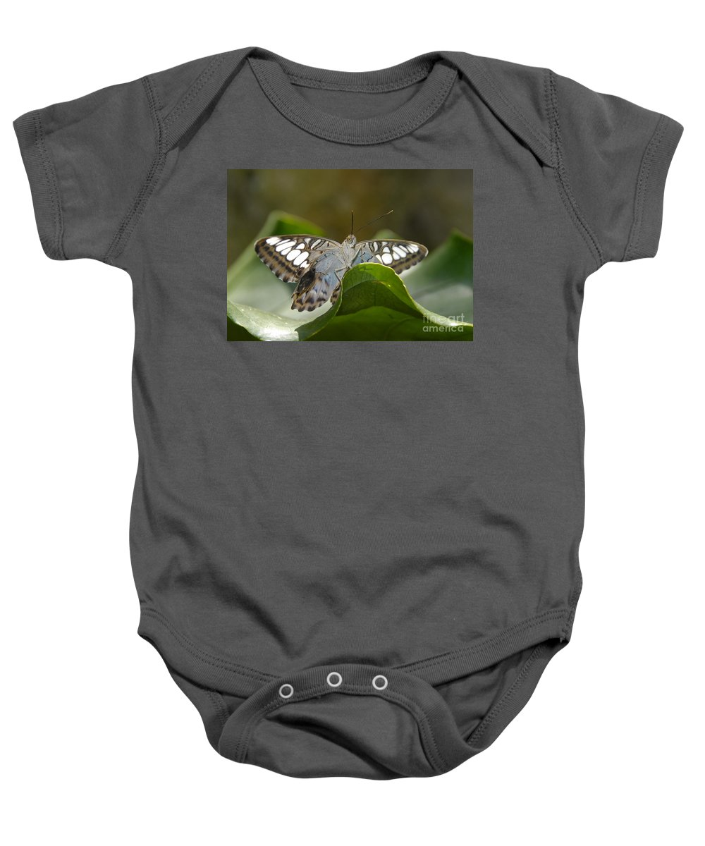 Pretty Baby Onesie featuring the photograph Butterfly Watching by David Lee Thompson