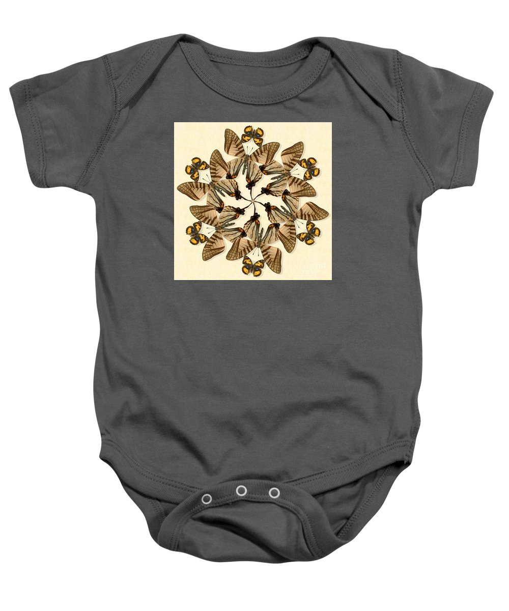 Butterfly Baby Onesie featuring the photograph Butterfly Wheel Dance by Melissa A Benson