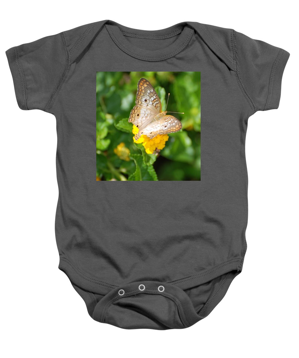 Butterfly Baby Onesie featuring the photograph Butterflywith Dots by Rob Hans