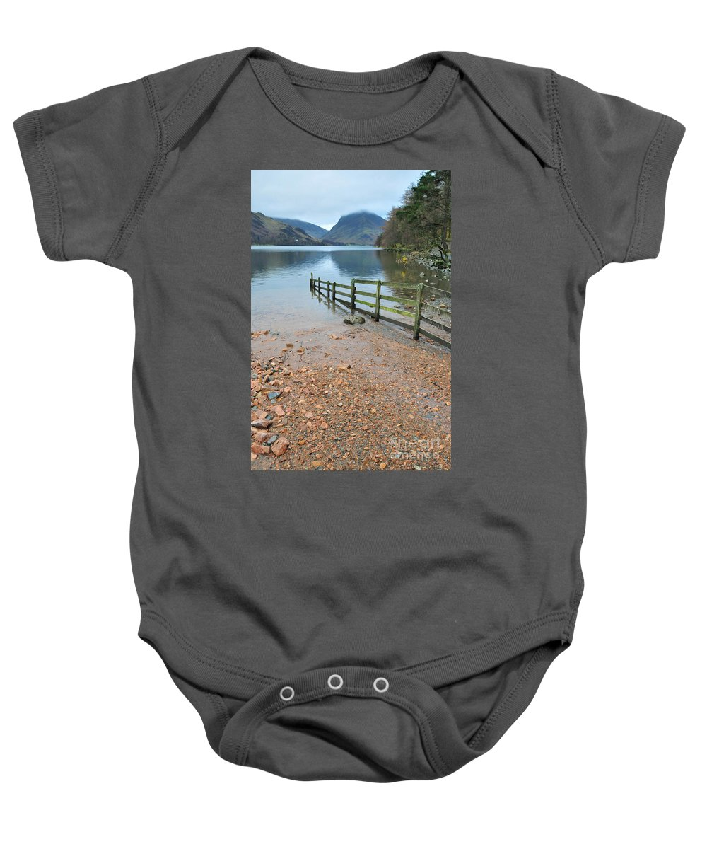 Buttermere Baby Onesie featuring the photograph Buttermere by Smart Aviation
