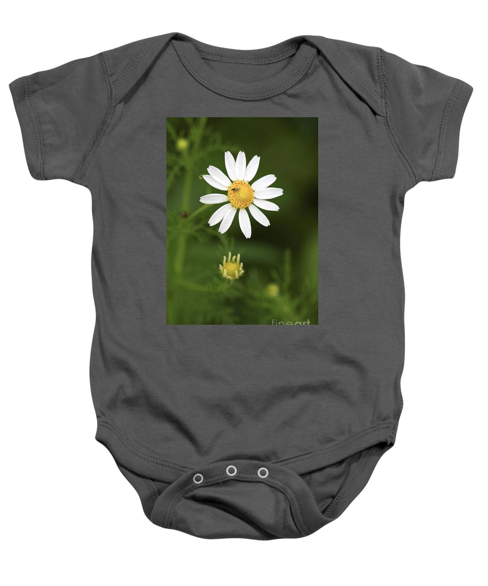 Flower Baby Onesie featuring the photograph By The Pond by Deborah Benoit