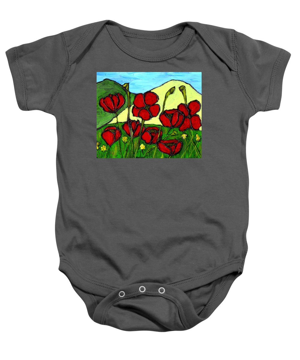 Flowers Baby Onesie featuring the photograph By The Side Of The Road by Wayne Potrafka