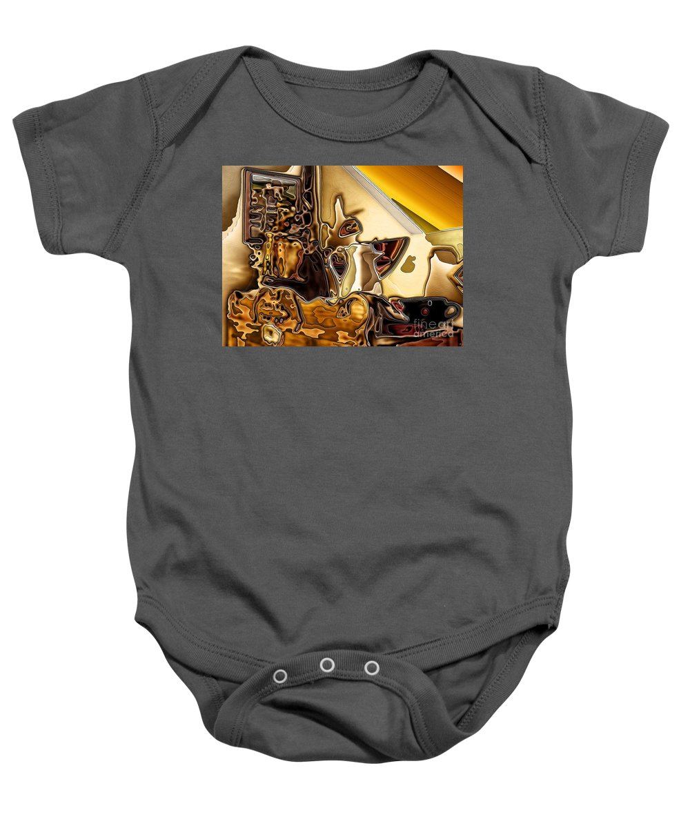 Cabinet Top Baby Onesie featuring the digital art Cabinet Top by Ron Bissett