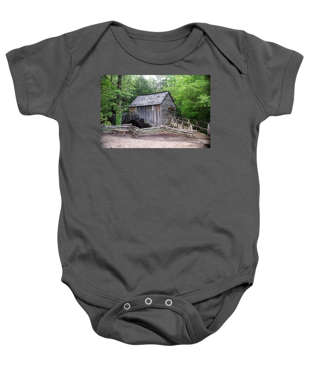 Cable Mill Baby Onesie featuring the photograph Cable Mill by Marty Koch