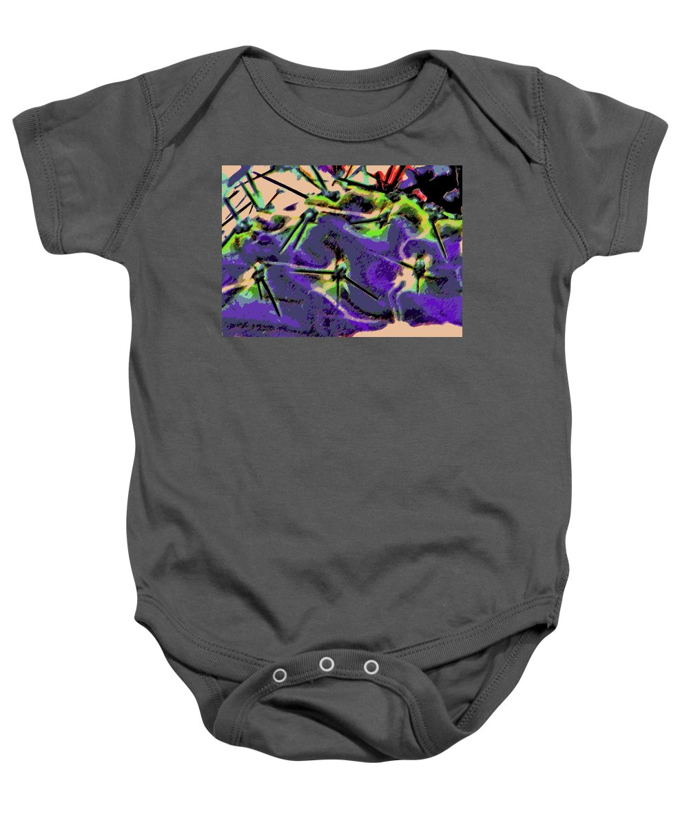 Abstract Baby Onesie featuring the photograph Cactus 2 by Lenore Senior