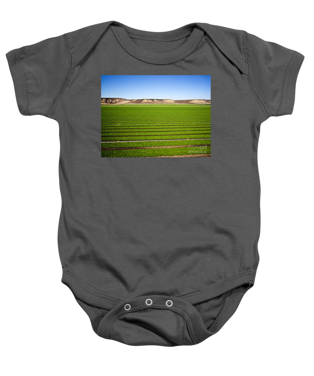 Agriculture Baby Onesie featuring the photograph California Farm 14pdxl069 by Howard Stapleton