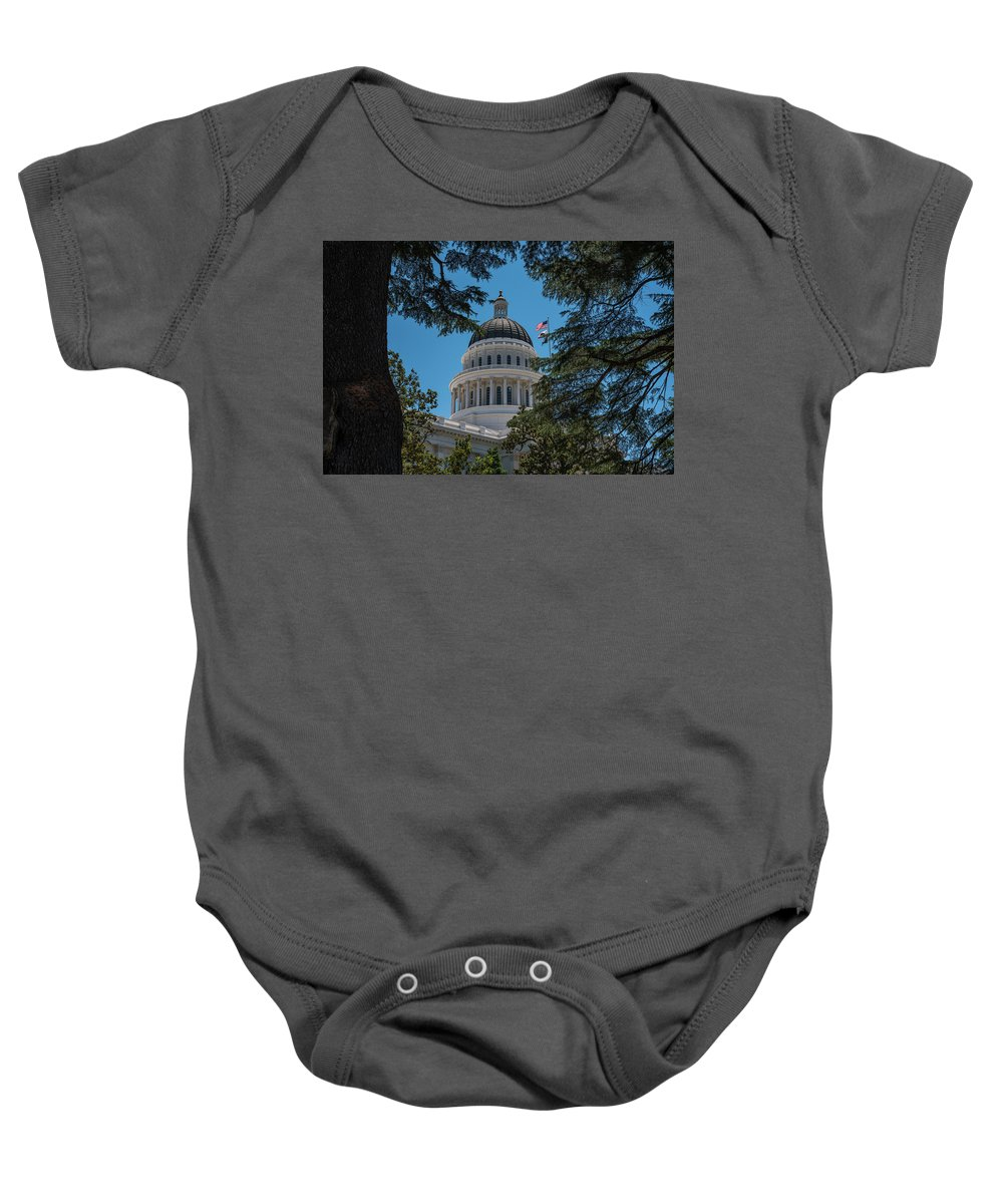 Architecture Baby Onesie featuring the photograph California State Capital by Richard White
