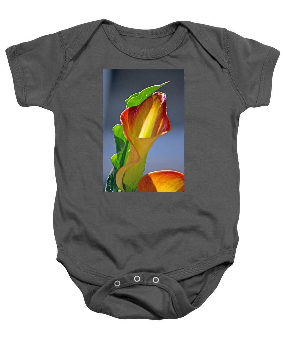 Flowers Baby Onesie featuring the photograph Calla Lilies by Donna Bentley
