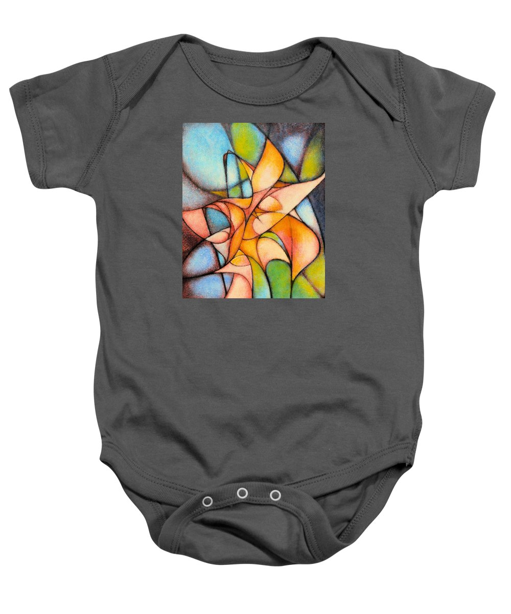 Contemporary Baby Onesie featuring the painting Calla Lillies by Kevin Lawrence Leveque
