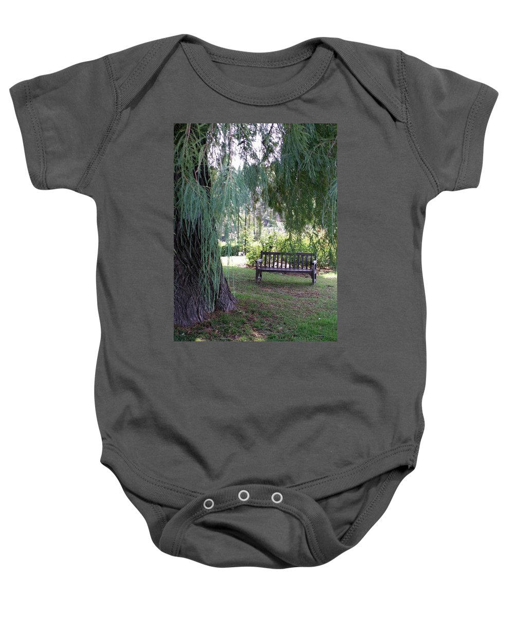 Landscape Baby Onesie featuring the photograph Calm by Amy Fose