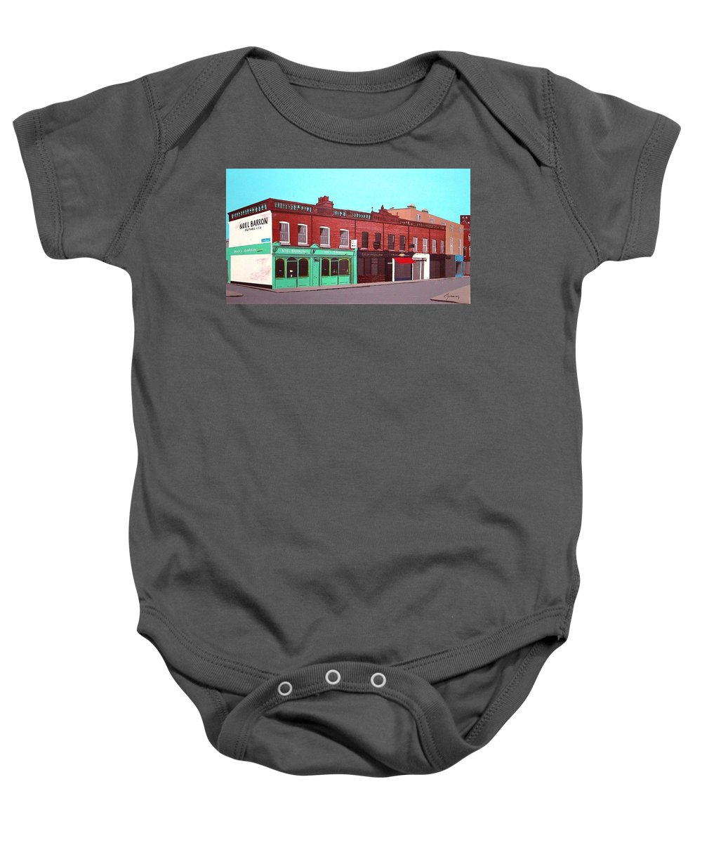 Camden Street Baby Onesie featuring the painting Camden Market, Dublin by Tony Gunning