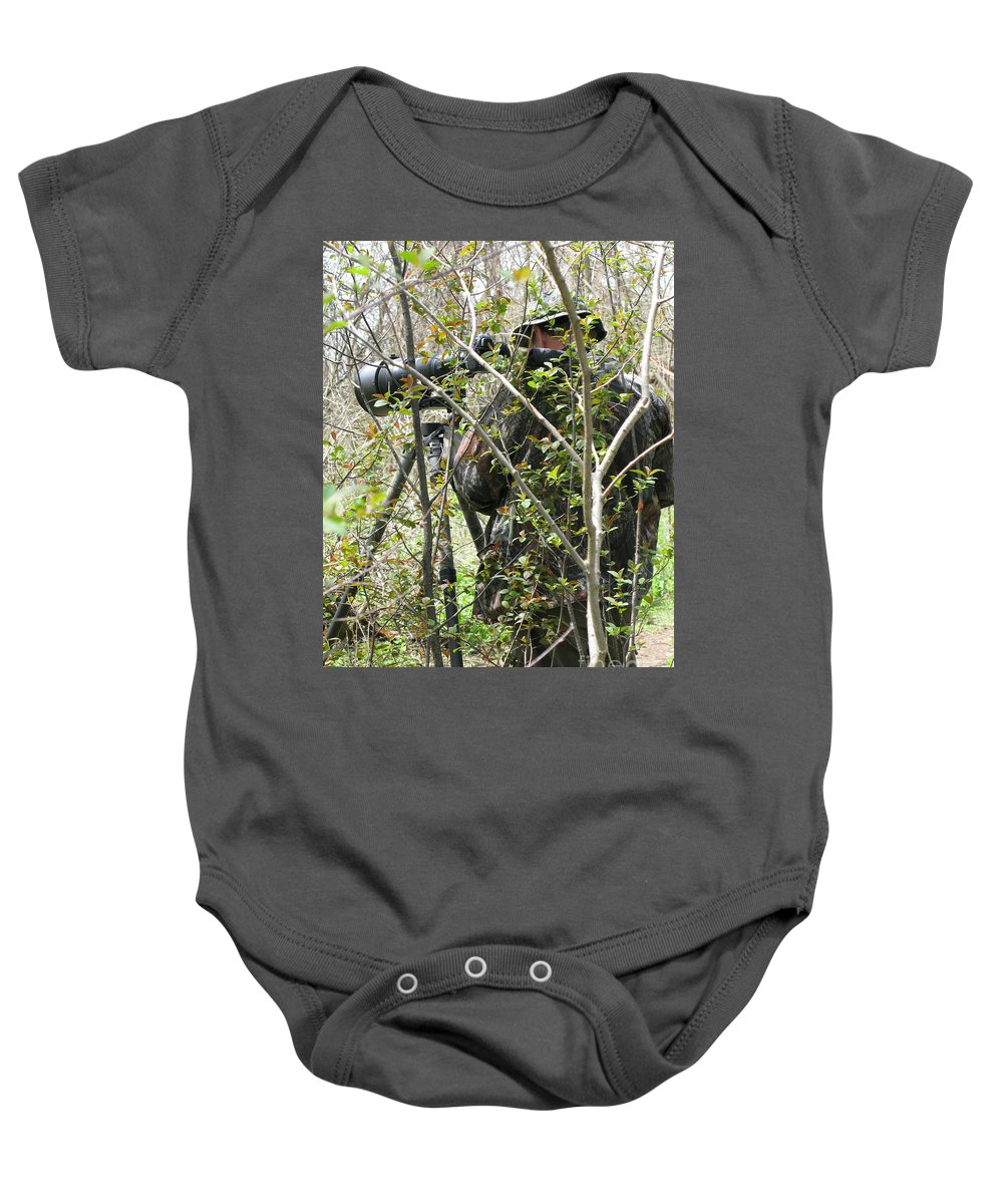 Photographer Baby Onesie featuring the photograph Camouflage by Ann Horn