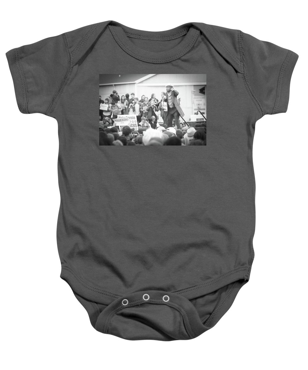 Music Baby Onesie featuring the photograph Can You Hear The Bone? by Nick Mattea