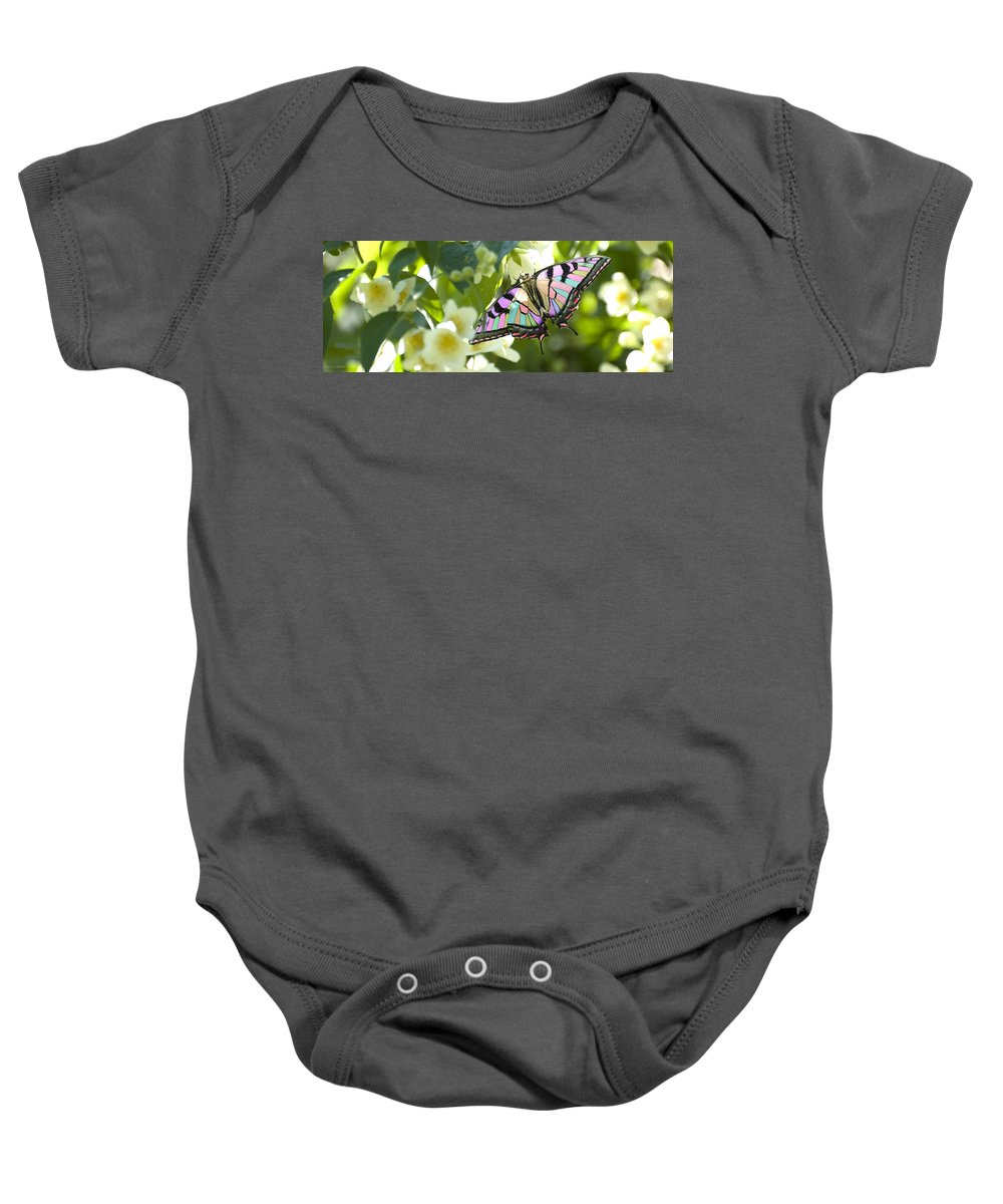 Butterfly Baby Onesie featuring the photograph Candy by Jennifer Kozlansky