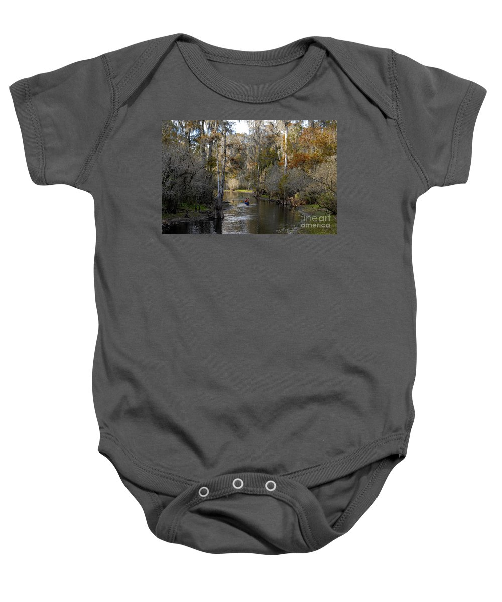 Family Baby Onesie featuring the photograph Canoeing In Florida by David Lee Thompson