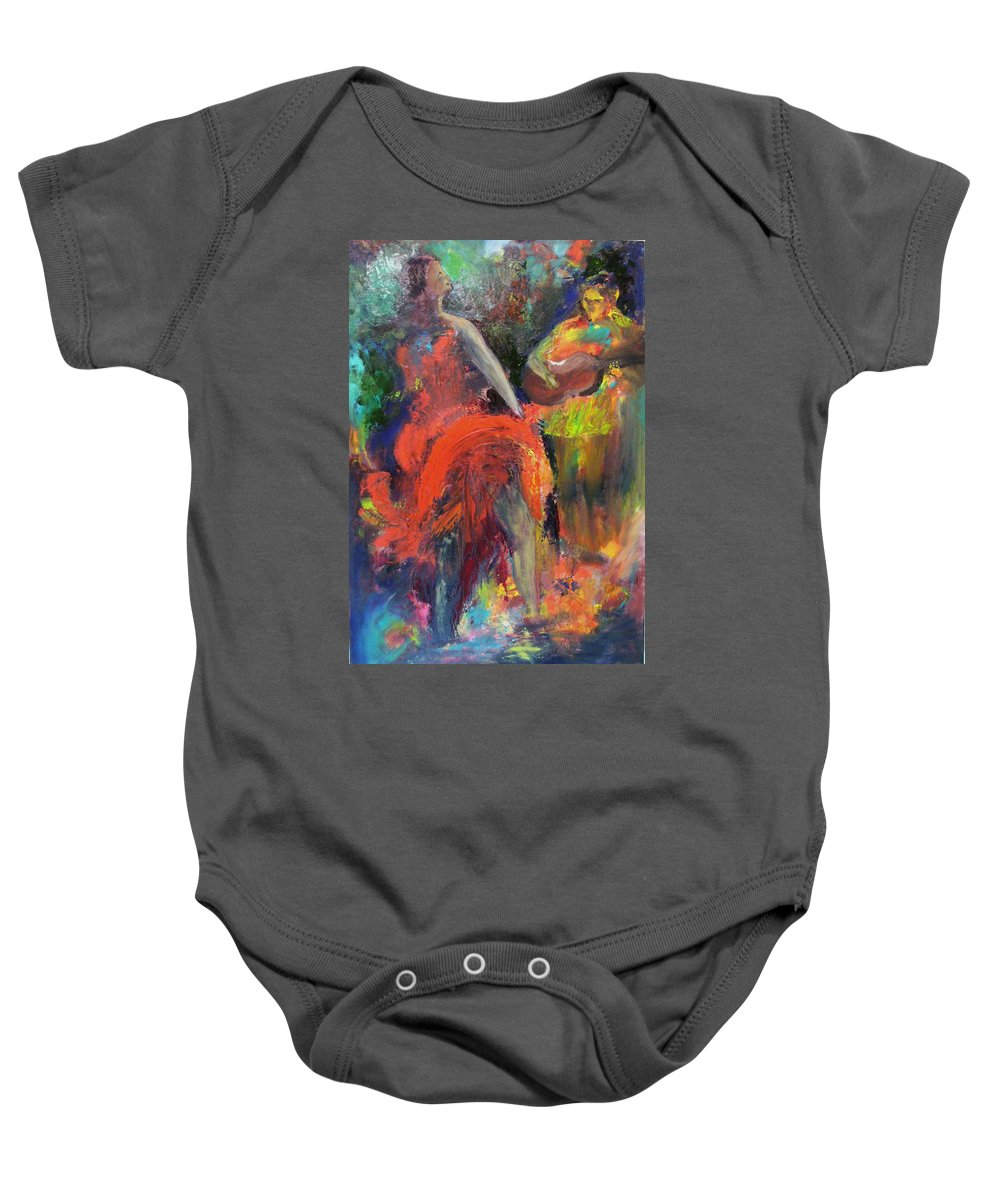Dancers Baby Onesie featuring the painting Cantina Serenade by Keith Thue