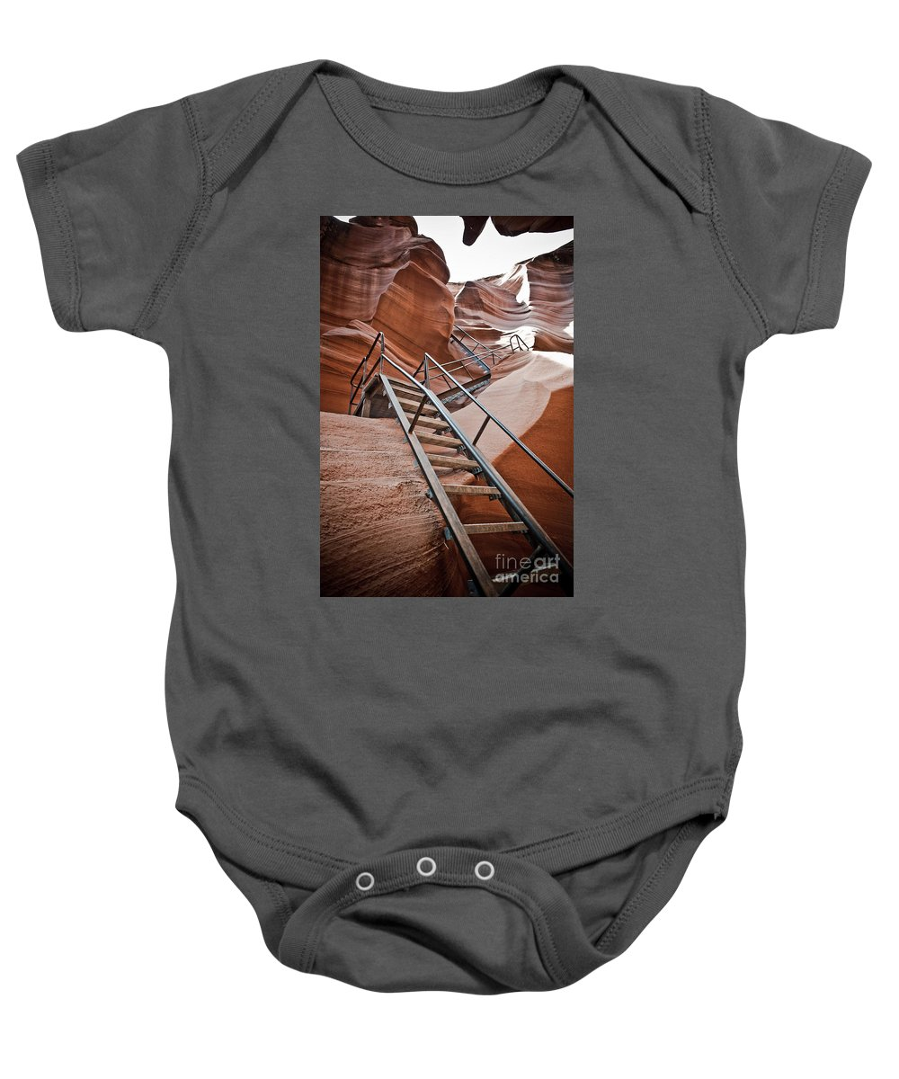Slot Canyon Baby Onesie featuring the photograph Canyon Exit by Scott Sawyer