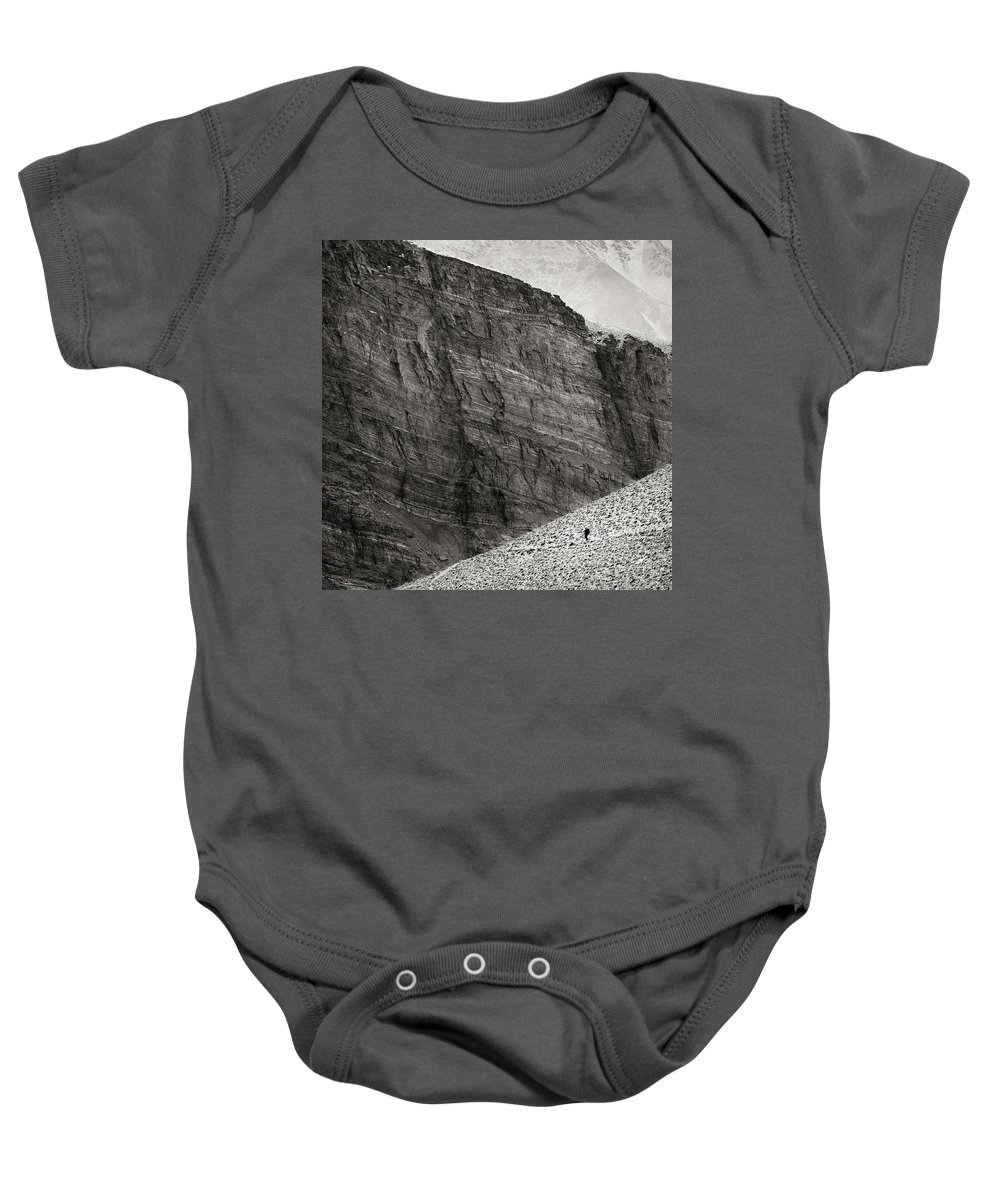 Alone Baby Onesie featuring the photograph Canyon Nishgar by Konstantin Dikovsky