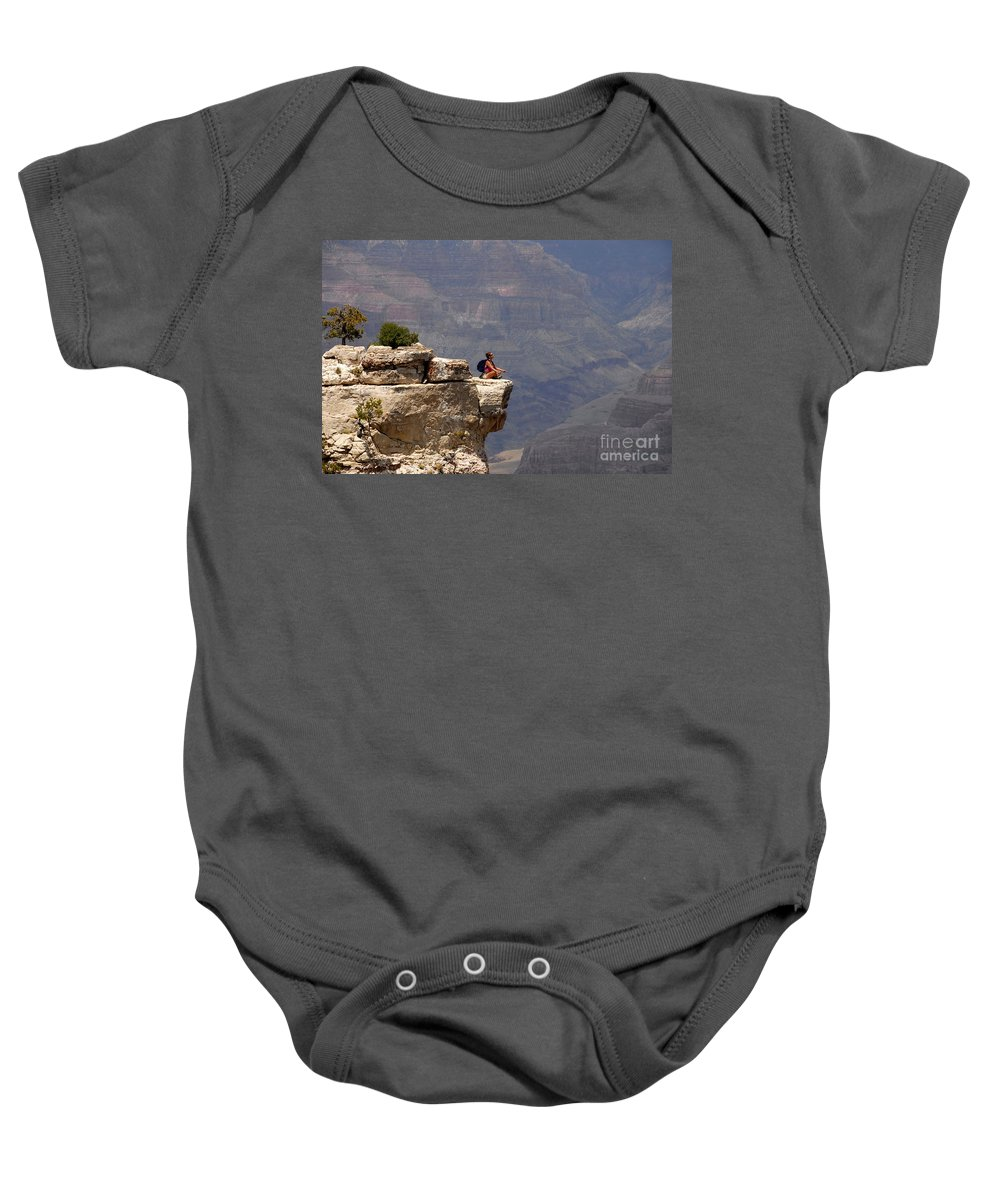 Grand Canyon National Park Arizona Baby Onesie featuring the photograph Canyon Thoughts by David Lee Thompson