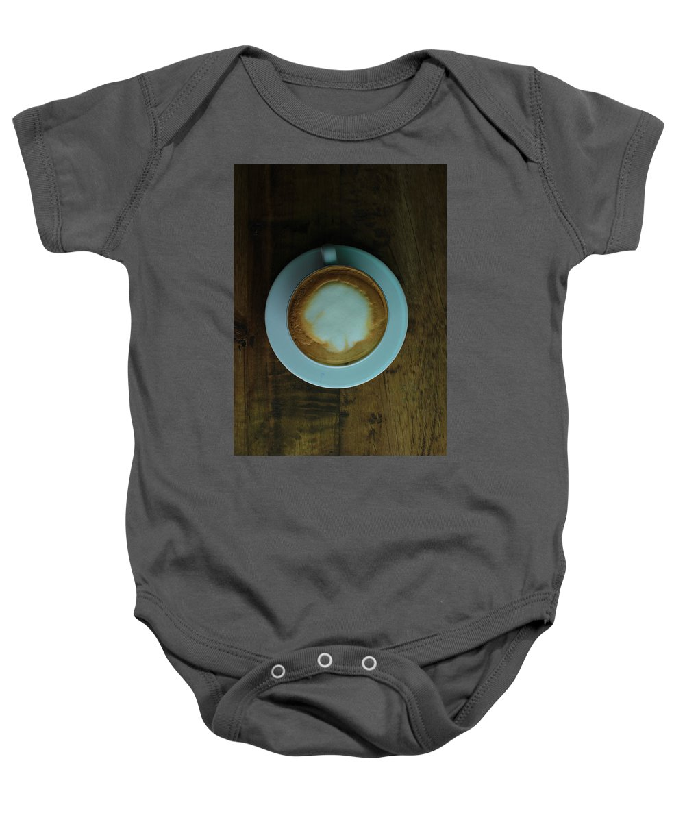 Cappuccino Baby Onesie featuring the photograph Cappuccino In A Cup by Robert Hamm