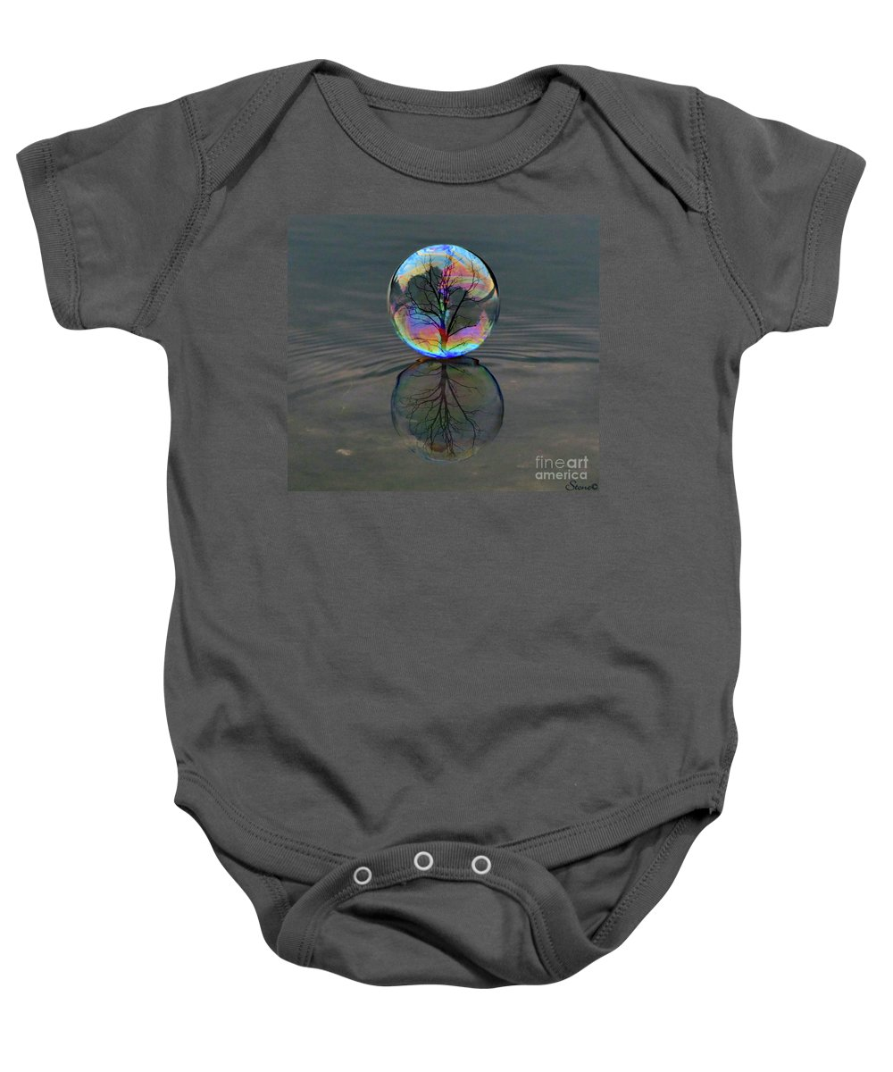 Bubble Baby Onesie featuring the photograph Captured by September Stone