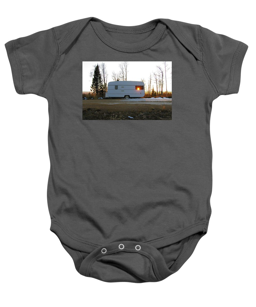 Caravan Baby Onesie featuring the photograph Caravan by Are Lund