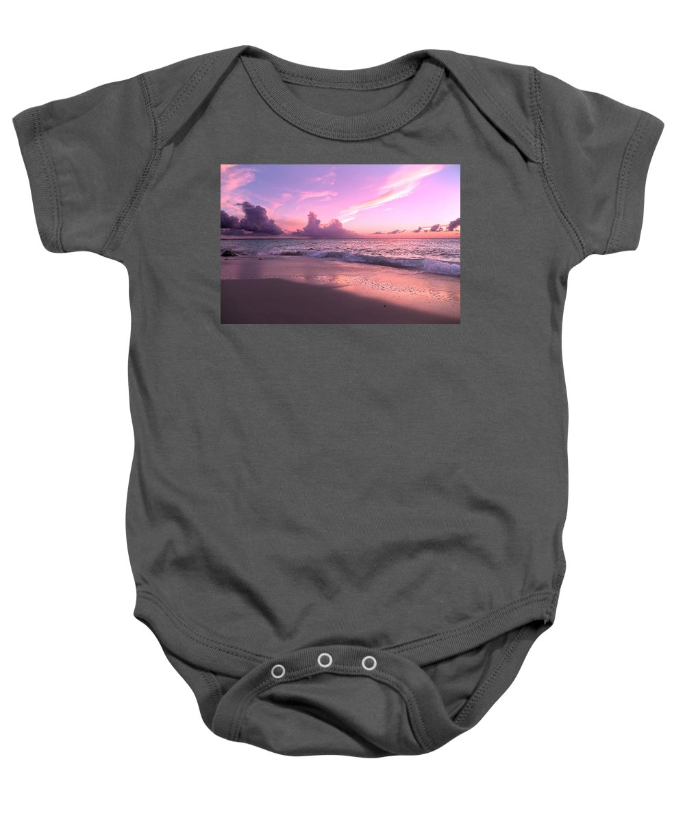 Beach Baby Onesie featuring the photograph Caribbean Tranquility by Betsy Knapp