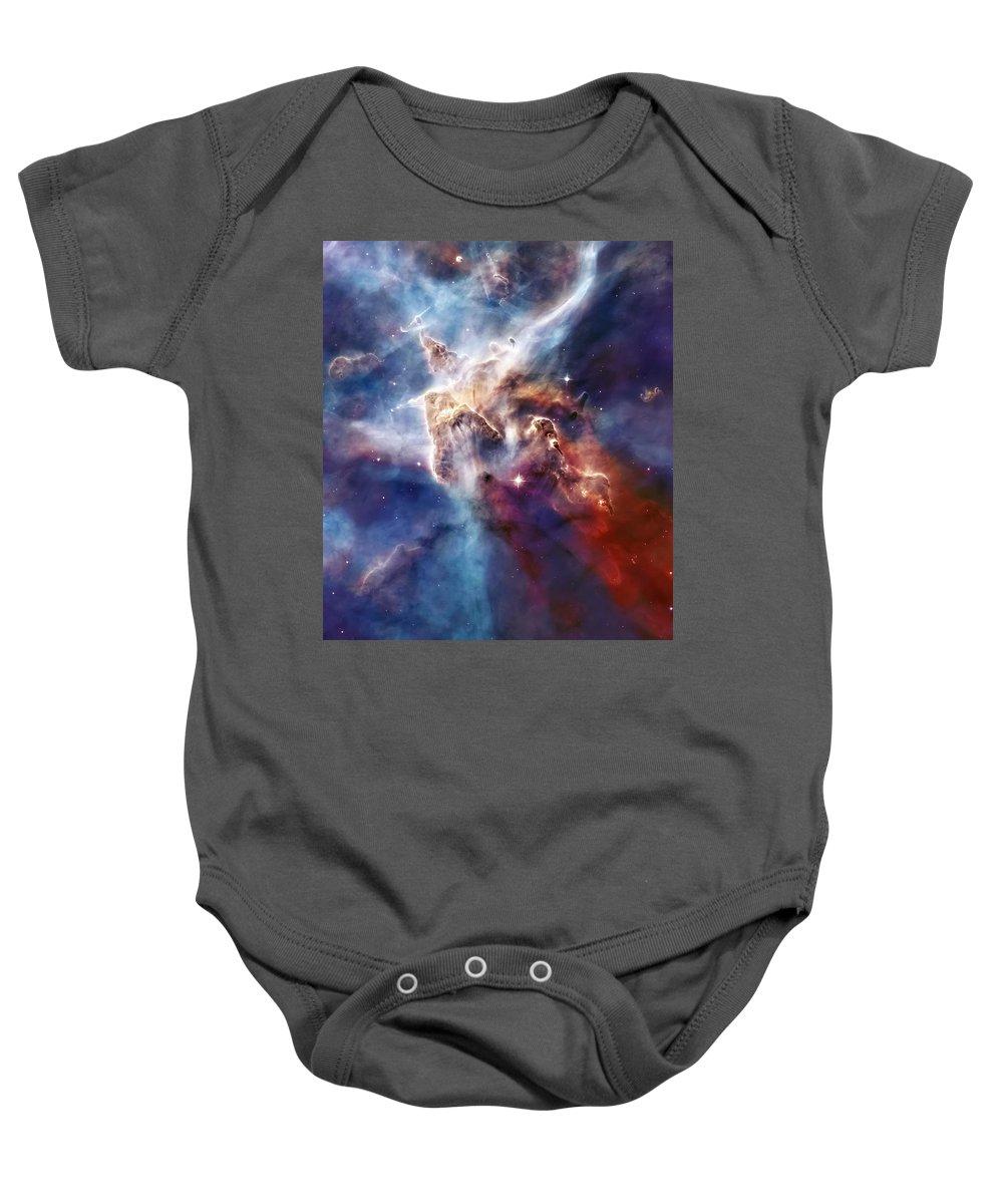 Nebula Baby Onesie featuring the photograph Carina Nebula Pillar by Jennifer Rondinelli Reilly - Fine Art Photography