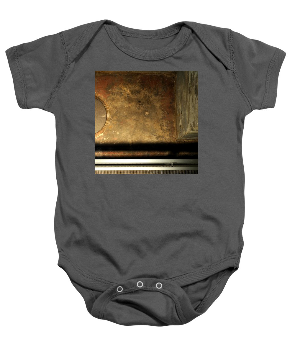 Manhole Baby Onesie featuring the photograph Carlton 13 - Abstract From The Bridge by Tim Nyberg